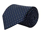 #7: BARATA Men's Polyester Formal Tie Blue_Free Size