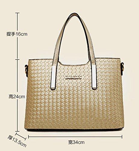 Keshi Pu neuer Stil Damen Handtaschen, Hobo-Bags, Schultertaschen, Beutel, Beuteltaschen, Trend-Bags, Velours, Veloursleder, Wildleder, Tasche Gold