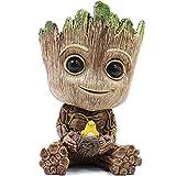 YWT Cute Baby Groot Succulente Vaso di Fiori Portapenne Office Storage Box per Bambini Portapenne Carino Modello Toy PVC Plant Frame Creative Home Decoration Regalo di Compleanno,Bird