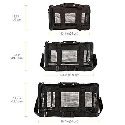 Amazon Basics Pet carrier bag, soft side panels 4
