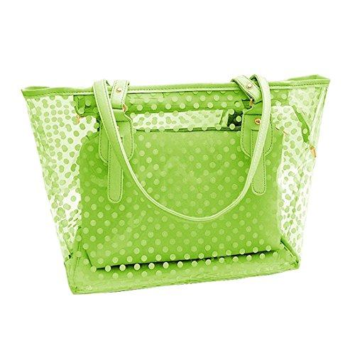 Wasserdichte Strandtasche SODIALR Damen Punkte Muster Transparent ...