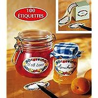Chevalier Diffusion–Etiquetas para mermelada (X 100) ovalados decorados *