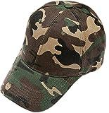 Outflower 1pcs Berretto da Baseball in Mimetica per Il Tempo Libero Berretto da Baseball per Il Sole Cappellino Sportivo per Donna e Uomo Verde dell''Esercito