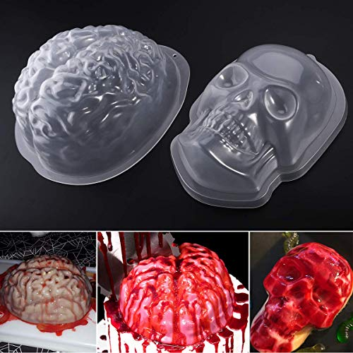 Unomor Halloween Puddingform Gehirn Zombie Brain Party Deko - 2 Pack