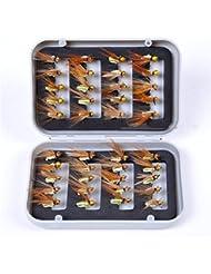 BrilliantDay 40pcs/box appâts leurres Kit beaucoup, le meilleur choix pour la pêche appâts leurres de pêche pour d'eau douce #1