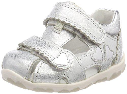 Superfit Baby Mädchen Fanni Sandalen, Silber (Silber Kombi), 22 EU