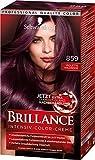 Schwarzkopf Brillance Intensiv-Color-Creme, 859 Violette Wildseide Stufe 3, 3er Pack (3 x 143 ml)