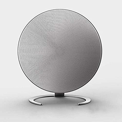 qiyanRound Metal Material Altavoz Bluetooth Tarjeta de Llamada Manos Libres Insert Creative Sound Silver