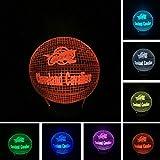 Veilleuse Optical Illusion Lamp Équipe De Basket-Ball 3D Visual Sports Fans Led Lampe De Chevet Art Lumineux...