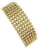 Mehrunnisa Golden Zircon Crystals Multi-layer Bracelet For Women (JWL683)
