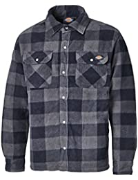Dickies Portland Camisa acolchado, Color Azul (Navy), L (44-46in)