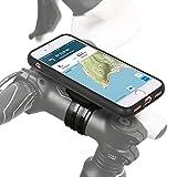 QuickMOUNT 3.0 Fahrrad Halterung für Apple iPhone 8 / 7 (4,7 Zoll) Bike Kit mit Case und Regenhülle (Handy Halter, Ladekabel Anschluss, Touch ID Unterstützung) schwarz / matt