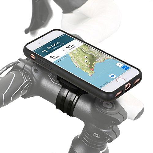 Wicked Chili QuickMOUNT 3.0 Fahrrad Halterung kompatibel mit iPhone 8/7 (4,7 Zoll) Bike Kit mit Case und Regenhülle (Handy Halter, Ladekabel Anschluss, Touch ID Unterstützung) schwarz