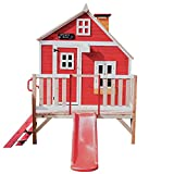 Garden Games Limited Crooked Penthouse Playhouse Pre Painted Wooden Play House