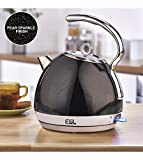 1.8 Litre Stainless Steel Black Sparkle Dome Kettle
