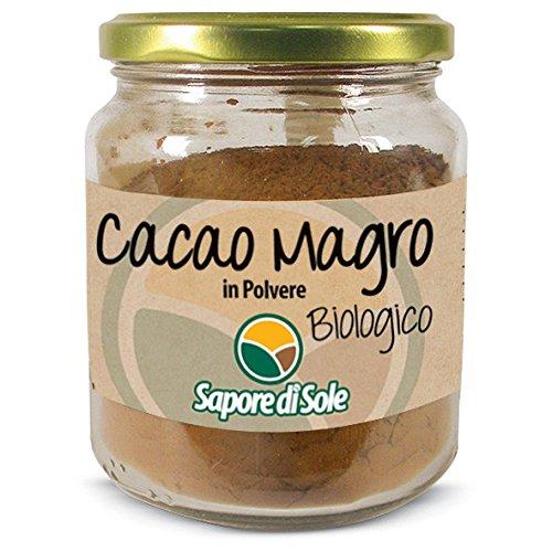Cacao Magro in Polvere Biologico Sapore di Sole - 2 x 120g - Prodotto Italiano