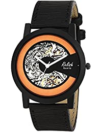 Relish RE-S8138BB Black Slim Analog Watches For Men's And Boy's