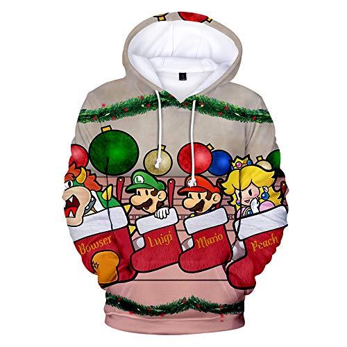 Derrick Aled(k) zhuke Herren Winter Herbst Weihnachten Schneemann 3D gedruckt Pullover Langarm mit Kapuze Sportswear Sweatshirt Tops Casual Bluse