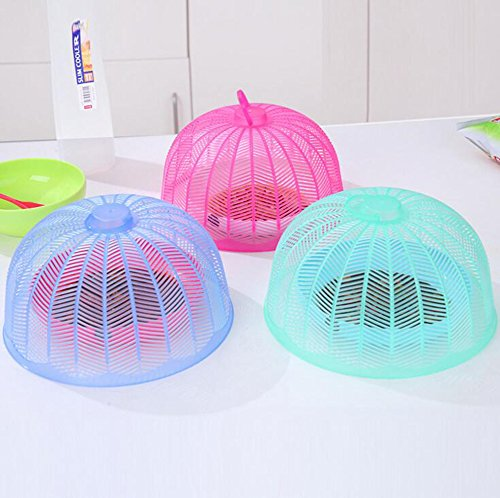 Image of Hosaire 3X Practical Round Food Cover Mesh Fly Wasp Net Party Kitchen Food Cover /Tent for Outdoor Home(green)