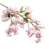 ZycShang - 1branche de cerisier en fleur artificielle, en soie - Aspect convivial et romantique, idéale pour décorer la maison, le jardin ou une salle de mariage