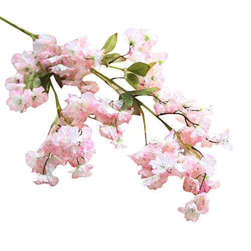 TIREOW_Blumenstrauß Romantische Bunte Künstliche Seidenblumen Kunstblumen Kirschblüte...