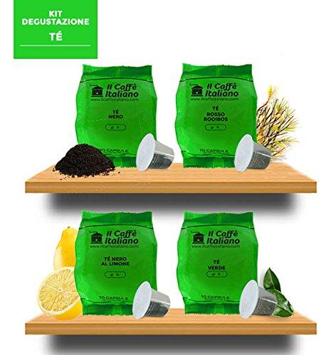 40 capsule compatibili Nespresso- 40 capsule Kit degustazione tè compatibili macchina caffè Nespresso - Il Caffè Italiano - FRHOME