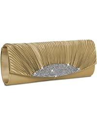 CASPAR Sac à main de soirée pour femme / Clutch / avec strass décoratifs - plusieurs coloris - TA289