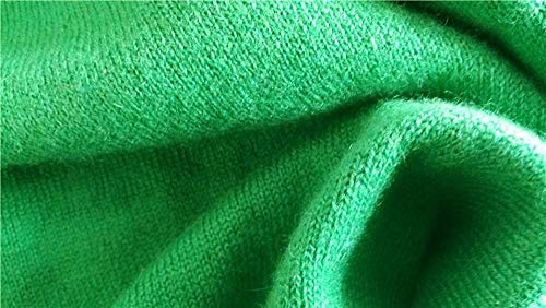 Spring Autumn Cashmere Sweaters Women Sexy V-Neck Sweater Loose Sweater Batwing Sleeve Pullover Green L -