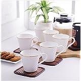 Famacart Tableware Handmade Serving Printed Tea Coffee Cups Set 6 Pcs