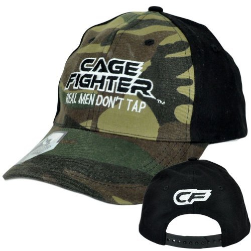 Cage Fighter Real Men Dont Tap Camo Snapback Martial Arts Chuck Liddell Hat Cap by Chuck Liddell