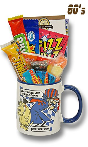 Wacky Races - Dastardly and Muttley Mug with a Gobsmacking Selection of 80's Sweets 630gms