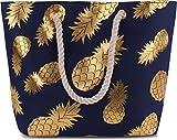 normani Strandtasche Schultertasche Handtasche Umhängetasche mit Sommer Design und großem Volumen...