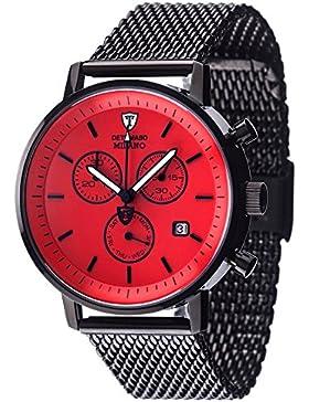 DETOMASO Herren-Armbanduhr Man Milano Analog Quarz DT1052-N