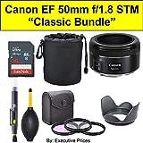 Classic Bundle Canon EF 50mm f/1.8 STM Lens + Accessories Bundle