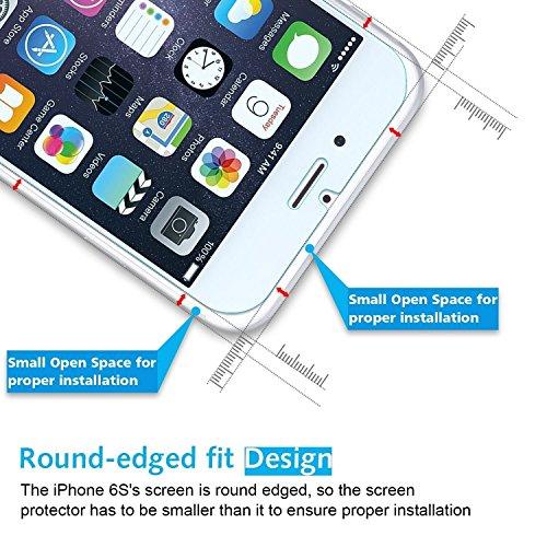 [2 Stück] OMOTON Panzerglas Displayschutzfolie für iPhone 6s und iPhone 6, 9H Härte, Anti-Kratzen, Anti-Öl, Anti-Bläschen, lebenslange Garantie - 6