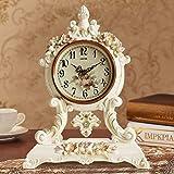 WW Tischuhr Antik Europäische Uhr Ruhig Wohnzimmer Uhr Nachttisch Uhr Dekorative Kreative Schaukel Uhr Antike Uhr,AAA