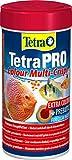 Tetra Pro Colour Premiumfutter (für alle tropischen Zierfische, Farbkonzentrat für hervorragende natürliche Farbausprägung, hoher Gehalt an Carotinoiden für farbverstärkende Wirkung), 250 ml Dose