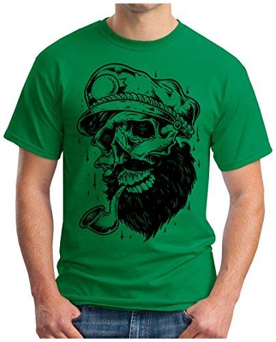 OM3 - OLD-SKULL-CAPTAIN - T-Shirt, S - 5XL Grün