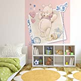 Tapetokids Fototapete - Disney Winnie Pu Bär - Vlies 254 x 184 cm (Breite x Höhe) - Wandbild Ferkel Kinder