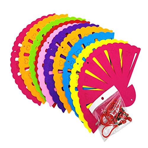 STOBOK 10 pack nette fan form vlies anhänger diy kunst handwerk anhänger für hauptwanddekoration (10 K Anhänger)