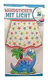 Trötsch Wandsticker mit Licht Dino, Glitzer-Lampenschirm