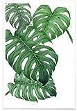 """JUNIQE® Poster 20x30cm Blätter & Pflanzen - Design """"Tropical No.2"""" (Format: Hoch) - Bilder, Kunstdrucke & Prints von unabhängigen Künstlern - Botanische Kunst mit Pflanzen - entworfen von typealive"""