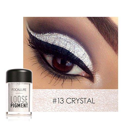 Sparkly Lidschatten SOMESUN Augen Makeup Perle Metallic Lidschatten-Palette (#13)