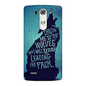 Throw Me To Wolves Back Case Cover for LG G3 Mini