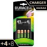 Duracell - Cargador de Pilas de 45 minutos, incluye pilas, 2 AA + 2 AAA
