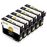 Gohepi Ersatz für Epson 29 29XL Schwarz Druckerpatronen Kompatibel für Epson Expression Home XP-245 XP-342 XP-442 XP-235 XP-432 XP-332 XP-335 XP-435 XP-247 XP-445 XP-345, Packung mit 6