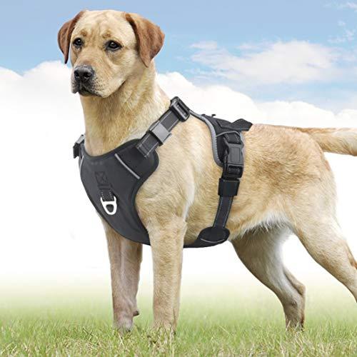 Idepet Hundegeschirr, kein Ziehen, verstellbar, Weiches Air-Mesh-Hundegeschirr, reflektierend, atmungsaktiv, Leichtes Hundegeschirr für Kleine, mittelgroße und große Hunde -
