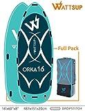 wattsup Orka 16'sup pour 8personnes 487cm x 151cm x 20cm Y Compris de Pagaie poche et pompe