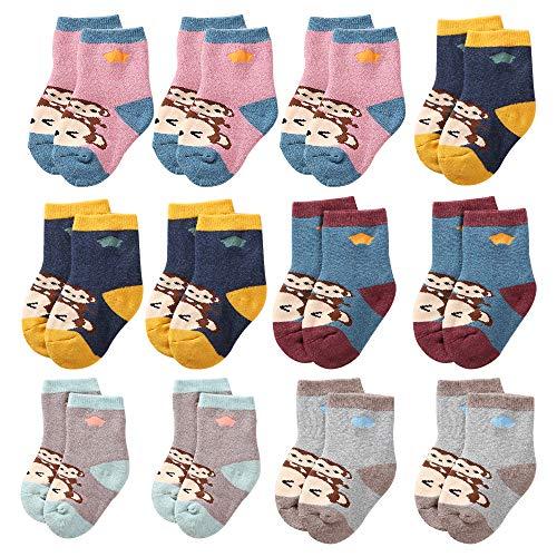 WANDER Baby Mädchen (0-24 Monate) Socken Gr. 1-2 Jahre, affe