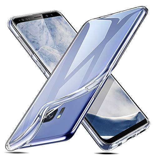 Transparent Handy (ESR Hülle für Samsung Galaxy S8, Transparent Weiche Silikon [0.8mm Ultradünnen] TPU Kratzfest Schutzhülle für Samsung Galaxy S8 (Klar))